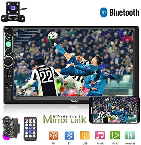 Double Din Auto Stereo Radio 7'' HD Touchscreen Auto Audio Bluetooth FM Radio USB Auto Audio Video Player Unterstützung Telefon Spiegel Link + Auto Backup Kamera und Lenkradsteuerung