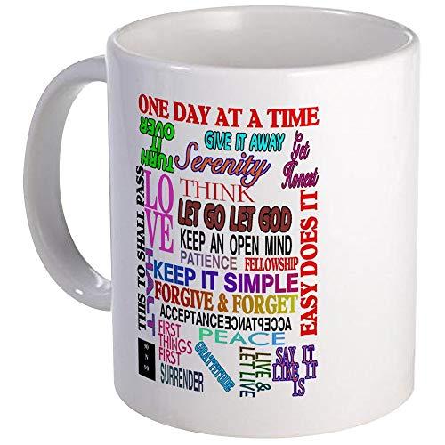 N\A - 12 Step Slogans IN Color Mug - Taza de café única, Taza de café