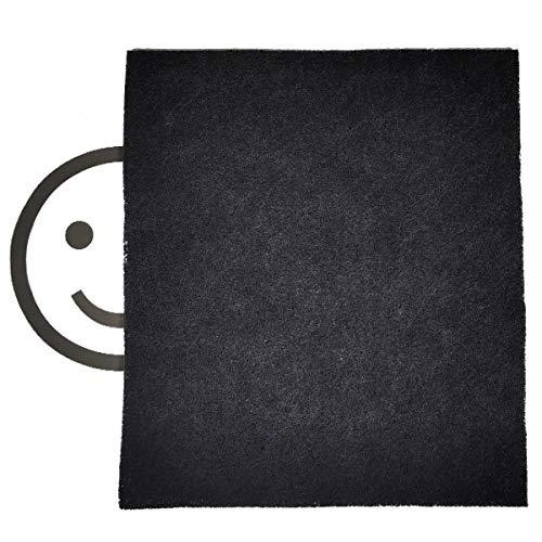 Aktivkohle Filtervlies Filtermatte ca. 0,5x1 m, Dicke ca. 5-6mm Aktivkohlefilter Kohle Umlufthaube Filter für Küche Luftreinigungsanlage Rauchfilter allg. Geruchsbelästigung