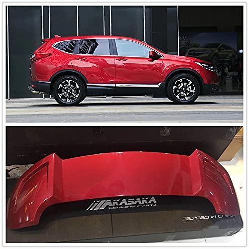 ZHYUEN Akasaka ABS Troncer Troncer Spoiler, Wing Lip para CRV CR-V 2017 2018 2019 Red Car Splitter Splitter Kit de Parachoques
