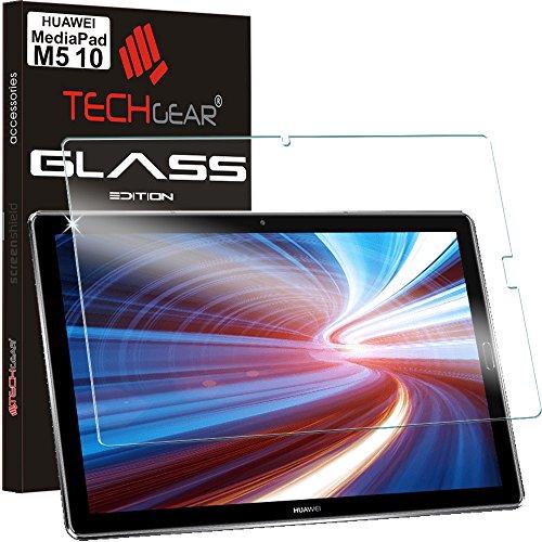 TECHGEAR Verre Trempé pour Huawei MediaPad M5 10 (10,8 Pouces), Protecteur d'Écran Original en Verre Trempé Compatible avec Huawei MediaPad M5 10.8 Pro / M5 10.8 2018