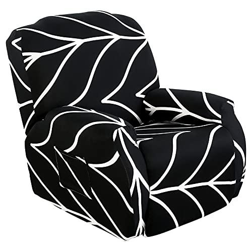 SearchI Sesselbezug Sesselschoner Stretch Husse für Relaxsessel Ruhesessel Bezug Komplett Elastisch Bezug für Fernsehsessel Liege Sessel(Geäst)