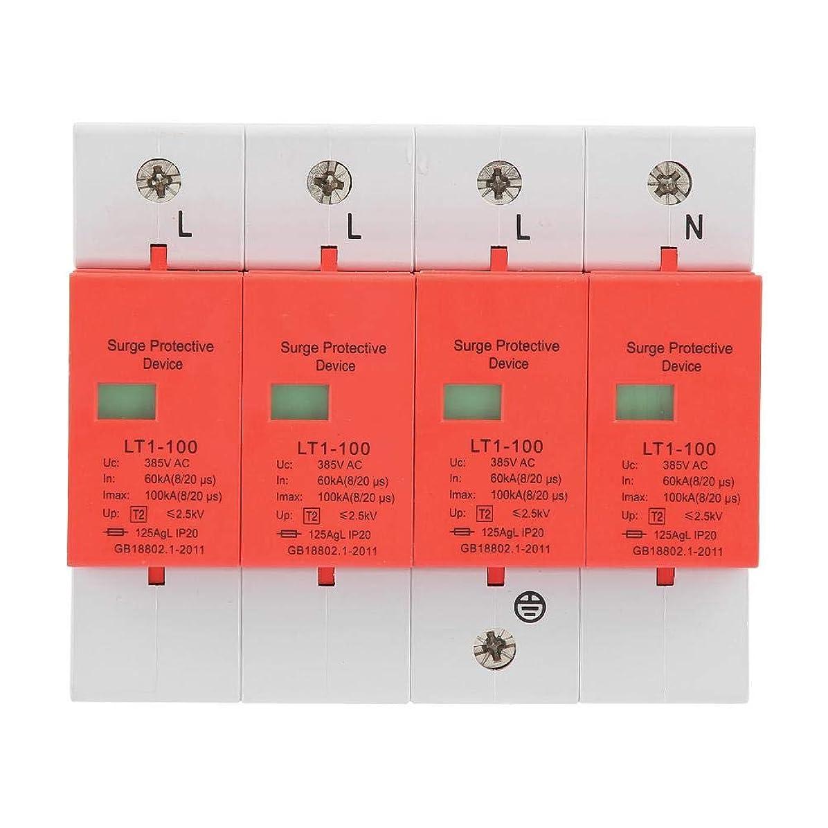 原点妖精感心する4極サージプロテクタ 60-100KA 420vAC低電圧産業用サージプロテクタアレスタ