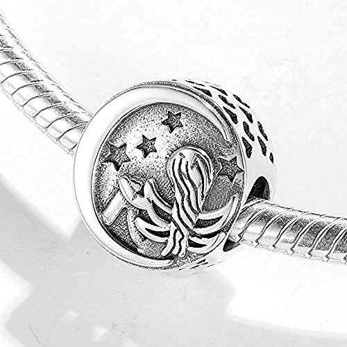 Charm Kralen,Mode 925 Sterling Zilveren Zeemeermin Onder Sterrenhemel Kralen Passen Originele Bedelarmband Voor Sieraden Voor Moeder Dochter