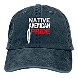 VJSDIUD Gorra de Mezclilla Popular Unisex Orgullo Nativo Americano Sombrero de Camionero para Adultos Gorras de béisbol Ajustables Vintage