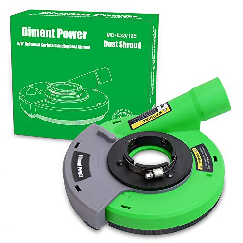 Diment Power Universal Surface Grinding Dust Shroud for Angle Grinder 4 inch/ 4.5 inch/ 5 inch. Collect Grinding Dust-Wood,Stone,Cement,Marble,Rock,Granite,Concrete