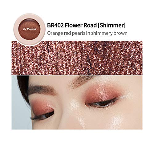 ETUDE HOUSE [Blossom Picnic] Air Mousse Eyes (#BR402 Flower Road) | Prism Pearl Eyeshadow That Softly Blends on Your…