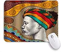 KAPANOUマウスパッド アフリカの女性のレトロなスタイル ゲーミング オフィス最適 高級感 おしゃれ 防水 耐久性が良い 滑り止めゴム底 ゲーミングなど適用 マウス 用ノートブックコンピュータマウスマット