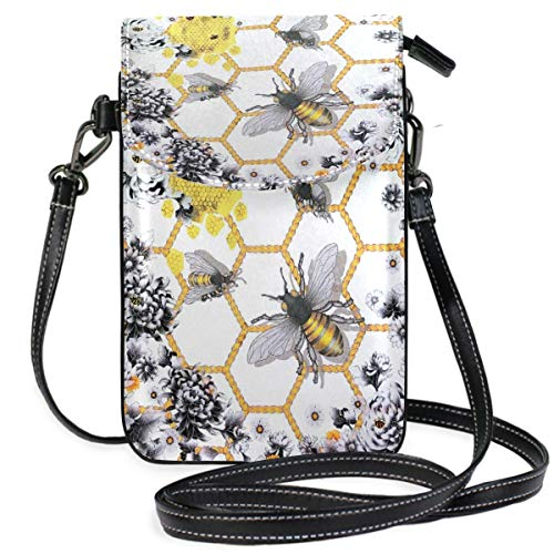 XCNGG bolso del teléfono Bee Cell Phone Purse Wallet for Women Girl Small Crossbody Purse Bags