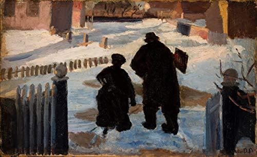 Anna Ancher Giclee Kunstdruckpapier Kunstdruck Kunstwerke Gemälde Reproduktion Poster Drucken(Michael Ancher auf dem Weg zu seinem Atelier, begleitet von der Organistin Helene Christensen) #XZZ
