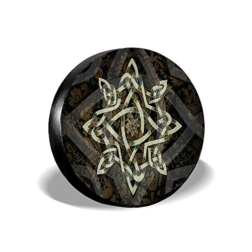 Duanua Celtic Knotwork - 208 Spare Tire Covers for RV Motorhome Wheel Covers Waterproof Tire Protectors Universal Fit 14