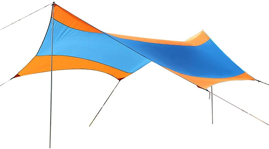 JIANFEI Tente De Camping Abri De Jardin étanche Toile Bache Voyage En Plein Air Capacité D'accueil De 6 à 10 Personnes, 3 Couleurs Soutien Logo Personnalisé (Couleur   bleu, Taille   550x560x240cm)