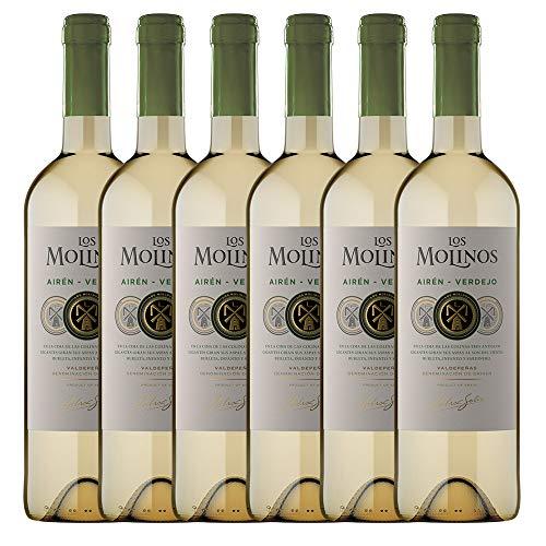 Los Molinos Tradición Blanco D.O. Valdepeñas - Paquete de 6 x 750 ml - Total: 4500 ml