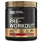 Optimum Nutrition Gold Standard Pre Workout Energie Booster (Pulver Shake mit Kreatin Monohydrat, Beta Alanin, natürliches Koffein und Vitamin B von ON) Fruit Punch, 30 Portionen, 330g
