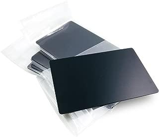 Ebamaz Metal Business Cards Anodized Aluminum Plaque Plate 86X54X0.8mm (Black, Blank,10PCS)