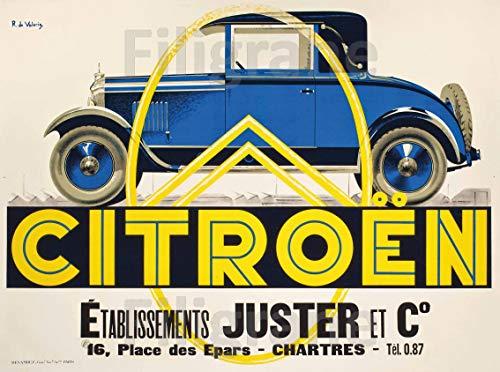PostersAndCo TM Citroën Garage Juster - Póster de 50 x 70 cm (en papel 60 x 80 cm) d1