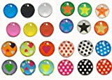 Rainbow Pastel Colors Polka Dots Stars Hearts 24 Pieces Home Button Stickers for iPhone 5 4/4s 3GS 3G, iPad 2, iPad Mini, iPod Touch