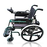 FTFTO Home Accessories Multifunctional Wheelchair Folding Intelligent Pg Controller Electric Wheelchair 360% Rotation Suitable For: Elderly/Disabled 200W*2