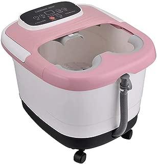 Qing MEI Bubble Massage Bathtub Foot Automatic Heating Fumigation Footbath Thermostat Electric Massage Wheel Set 6 Feet Tape Cartridge Barrel Red Light