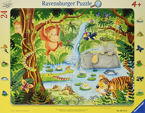 Ravensburger Kinderpuzzle 06171 - Dschungelbewohner - Rahmenpuzzle