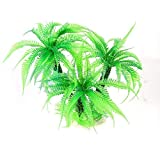 1 UNIDS / 32CM Aquarium de plástico Artificial Green Palm Plant Césped Aquarium Aquarium Accessories Productos de Acuario (Color : Green, Size : M)