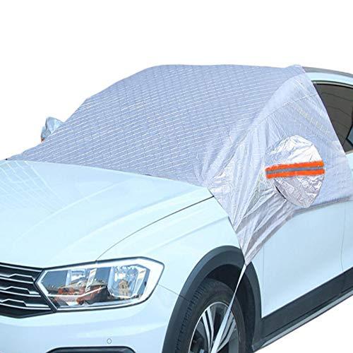 車用スノーカバー 雪よけ 冬場 凍結防止カバー フロントガラスカバー 汎用 冬場のガラス凍結防止カバー 夏場UVカット