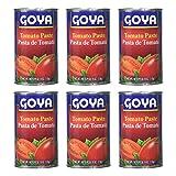 Goya Pasta de Tomate - Tomato Paste (6 Pack, Total of 108oz)