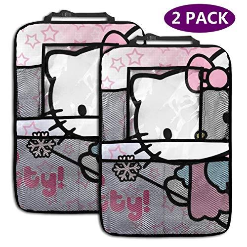TBLHM Hello Kitty Lot de 2 Sacs de Rangement Magiques pour siège arrière de Voiture avec Support pour Tablette