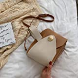 Mdsfe Vintage Fashion Female Tote Bucket Bag 2020 Nuevo Bolso de diseñador de Cuero de PU Mujer Bolsos de Hombro de Viaje - Blanco, 26 X 13 X 19 CM