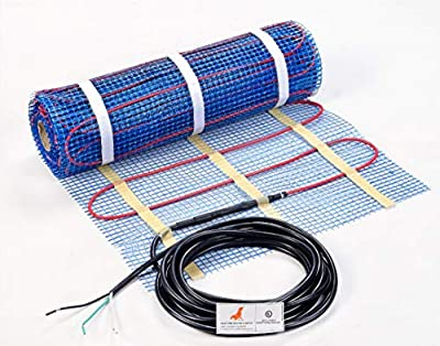 SEAL 10 sqft 120V Radiant Floor Heating Mat for Ceramic, Tile, Mortar, Easy to Install Self-adhesive Floor Heating System Kit