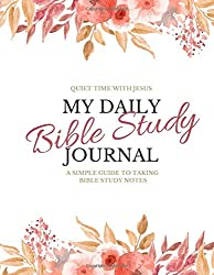 pink flowers, my daily bible study journal book cover