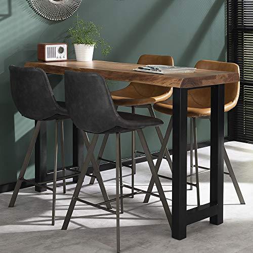 Bartisch 150 x 50 cm Baumkante Massivholz Hochtisch Stehtisch Bistrotisch Tisch