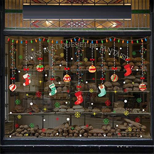 huichang - Adhesivo decorativo para pared con diseño de Navidad