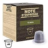 Note d'Espresso - Cápsulas de té Negro, Exclusivamente compatibles con cafeteras Nespresso, 40 unidades de 2g
