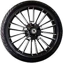 Coastal Moto METATL213BC Precision Cast Atlantic 3D Front Wheel with Tire - 21x3.5 - Black