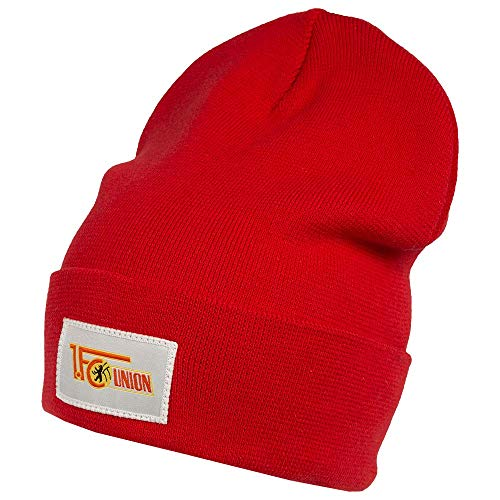 1. FC Union Berlin Gorro de invierno con logotipo de color rojo