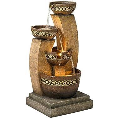 Four Bowl 41 1/2 High Cascading Fountain