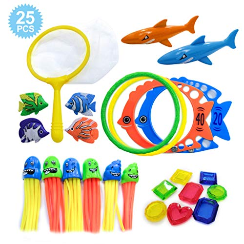 Underwater Tropical Swim Toys 25pcs Set Includes Storage Bag $9.34 (53% OFF)