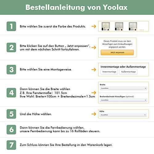 Yoolax Elektrisches Rollo Shangri-La Stil (Gelb)