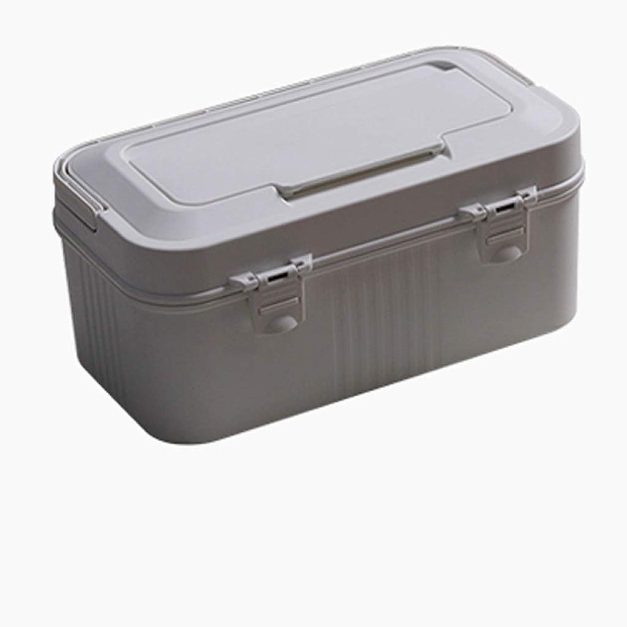 疑い者持っている触手YQCS●LS 厚い収納ボックス旅行ポータブルセットダブルドラッグ収納ボックス独立収納大容量小さな薬ボックス屋外ポータブル