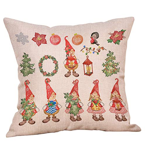 AMhomely Christmas Decorations Sale Clearance Christmas Ornaments Faceless Doll Pillow Covers Santa Claus Pattern Pillowcase Merry Christmas Decorative Xmas Decor Ornaments Party Decor Gifts