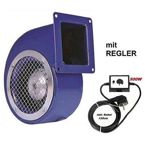 Uzman-Versand SG-160E Radialgebläse mit 500 Watt Drehzahlregler Radiallüfter Zentrifugal Lüfter Ventilator Absauganlage Saugventilator