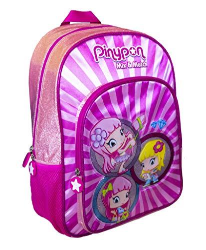 Pinypon - Mochila Infantil Adaptable a Carro con tamaño Mediano para niños a Partir de 3 años, Color Rosa (Famosa 700016006)