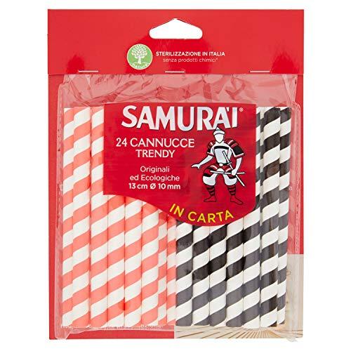 Samurai Cannucce Carta, 24 Pezzi