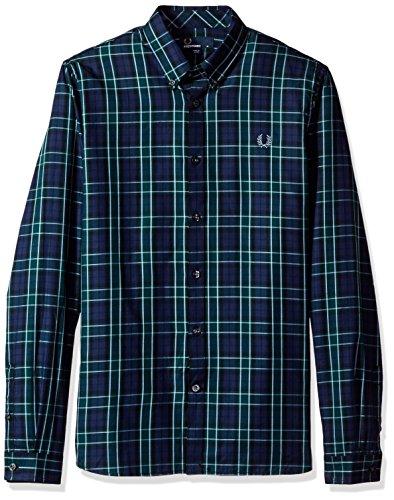 Fred Perry FP Enlarged Tartan Camicia Sportiva, Multicolore (Navy), Small (Taglia Produttore:S) Uomo