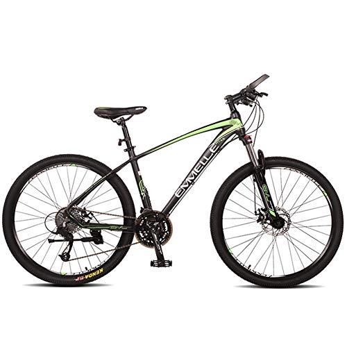 Unbekannt Mountain Bikes, 27-Gang 27,5 Zoll Große Reifen Mountain Trail Bike, Dual-Suspension Mountainbike, Alurahmen, Männer Frauen Fahrrad,Grün