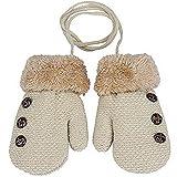 HENGSONG Kreative Warme Handschuhe Baby Jungen Mädchen Kleinkind Kind Gestrickte Fäustlinge (Beige)