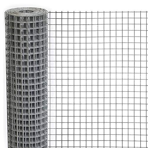 1M X 18M Wühlmausgitter Volierendraht verzinkt und punktverschweißt Maschendraht Kaninchendraht 12 mm Masche Feuerverzinkt Geschweißtes Drahtgeflecht Drahtzaun 0,6mm Zaun Drahtgitter (12mm 1Mx18M)