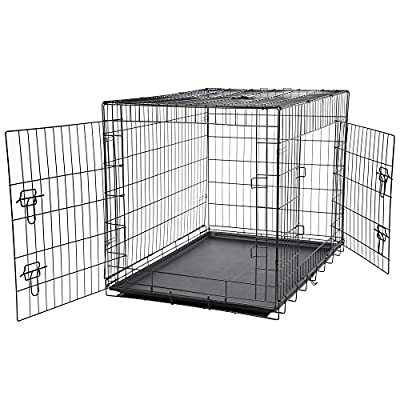 Bunty Metal Dog Cage Crate Bed Portable Pet Puppy Training Travel Carrier Basket by Bunty