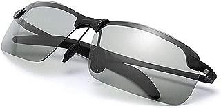 Lemesan Photochromic Lenes Driving Polarized Sunglasses for Men Women Outdoor Traveling Anti Glare Eyewear Glasses